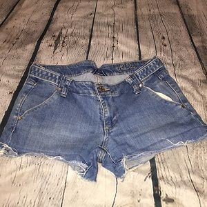 Old navy distressed jean shorts